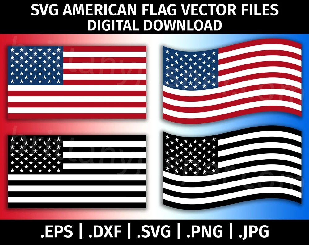 Download United States of America Flag SVG Vector Clip Art Cutting