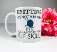 Knitting-related accessories, like mugs, also make great gifts!