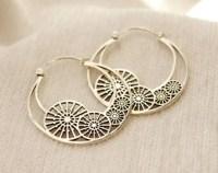 Big silver earrings