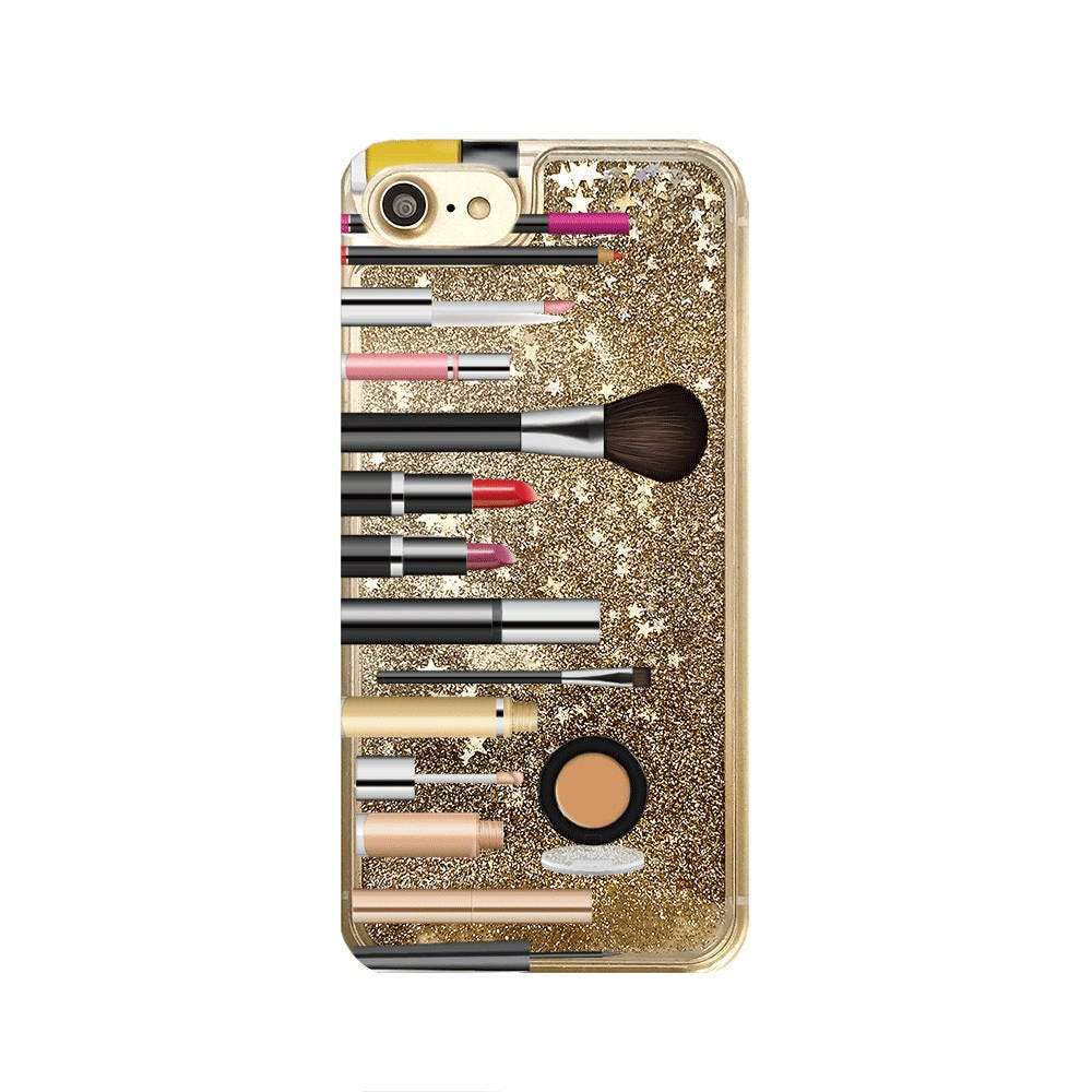 hight resolution of gold glitter iphone case makeup phone case iphone 8 iphone 7 plus