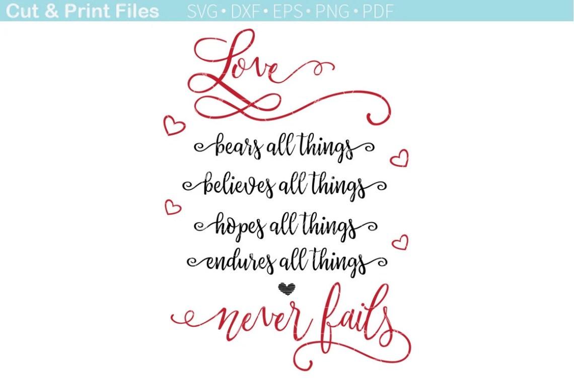Download Love never fails SVG Cut File. Romantic quotes for couples ...