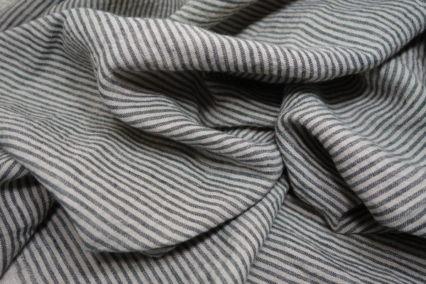 Striped Linen Fabric by the Yard