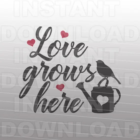 Download Love Grows Here SVG FileFamily Quote svgWedding svg