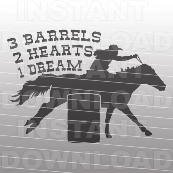 Barrel Racing Quote Svg File Western -commercial