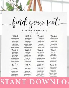 Il xn also rustic wedding seating chart template find your seat sign editable rh catchmyparty