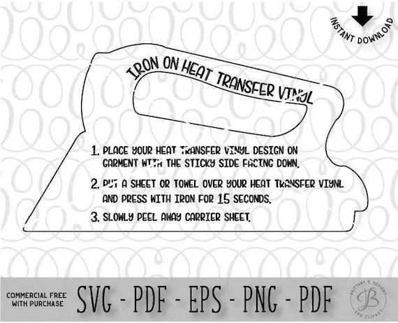 Iron on HTV care instructions Care instructions svg Svg
