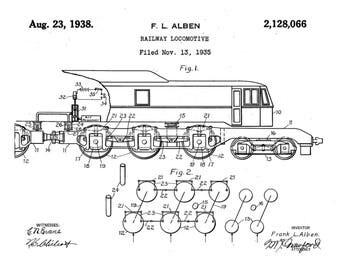 Headlight For Locomotive Patent Print 1898-Train