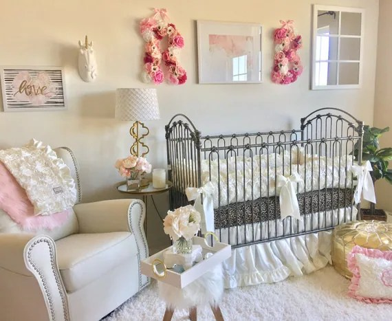 Luxury Baby Girl Crib Sets Ivory Cribs Sets Cream Baby