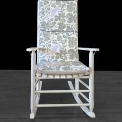 Glider Rocking Chair Cushion Pattern Red Spandex Sashes Grey Lilac Floral Bird