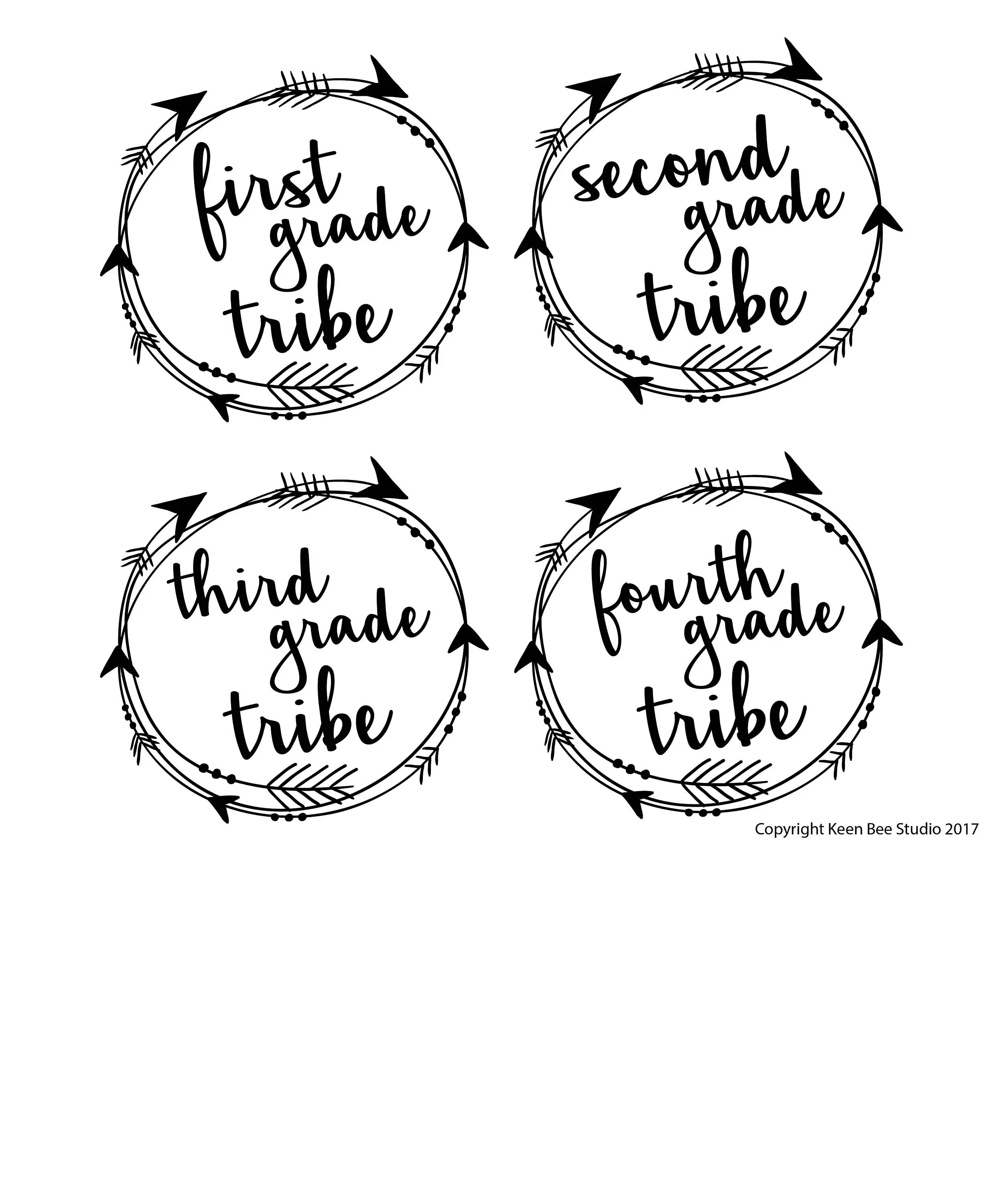 1st-4th Grade Teacher T-shirt Tribe First Grade Second