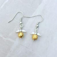Golden snitch earrings Harry Potter inspired earrings drop