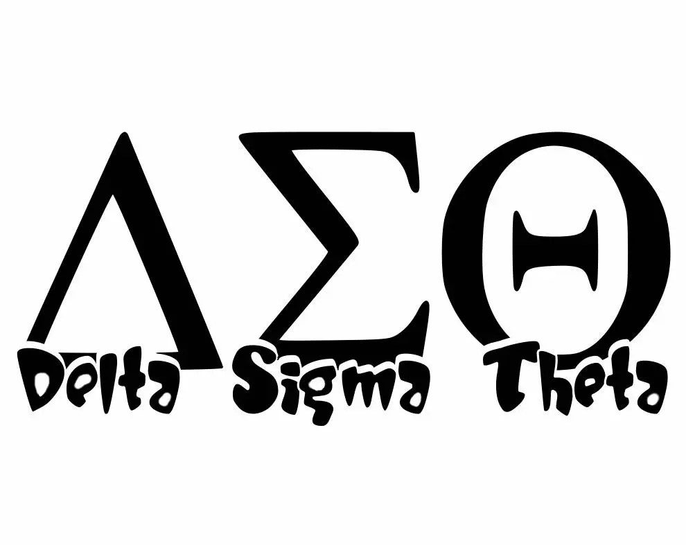 Delta Sigma Theta Decal with Text Greek Alphabet Decal