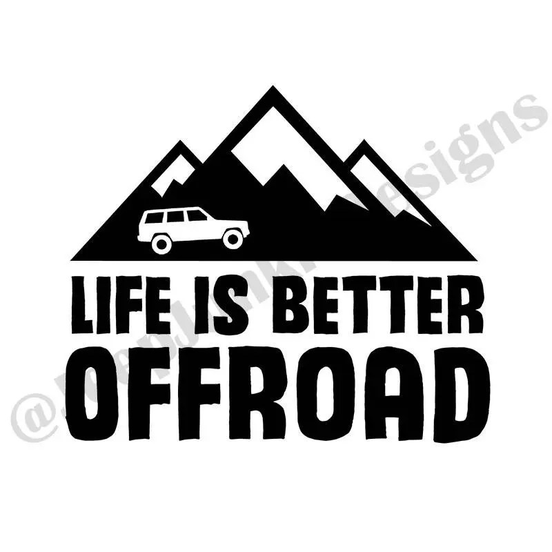 Life is Better Offroad XJ Decal Jeep Girl Decal Jeep Girl