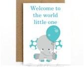 New Baby Boy Card, Baby B...