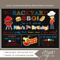 Backyard bbq invite