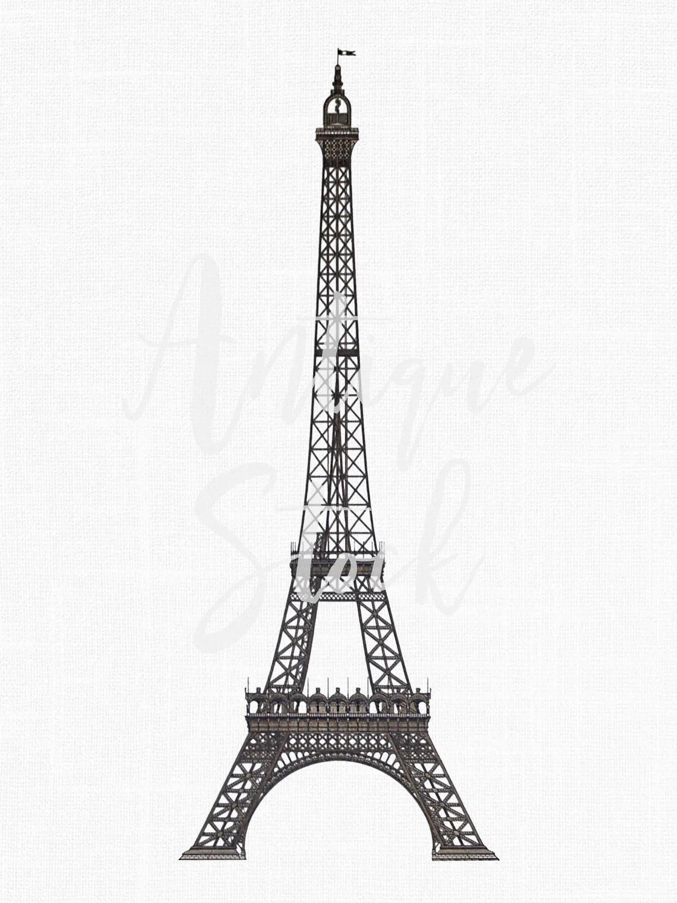 Digital Clip Art Download Eiffel Tower Paris