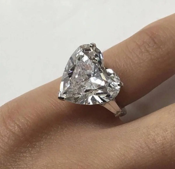 2.00 Carat Heart Shape Si1 Diamond With Tapered Baguette