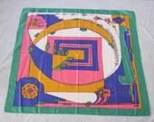 Colourful mod scarf in pi...