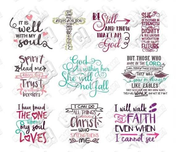 Bible Verse SVG Bundle Scripture Christian Quotes