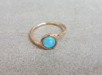 Opal promise ring