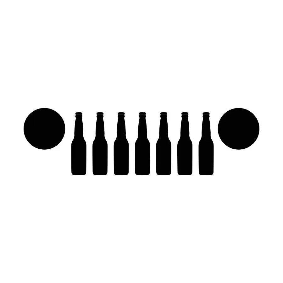 Beer Bottle Jeep Grill Decal Jeep Wrangler cooler decal