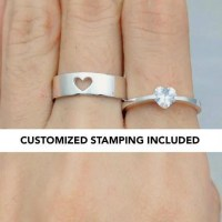 Promise Ring Set His And Her Promise Ring Promise Rings For