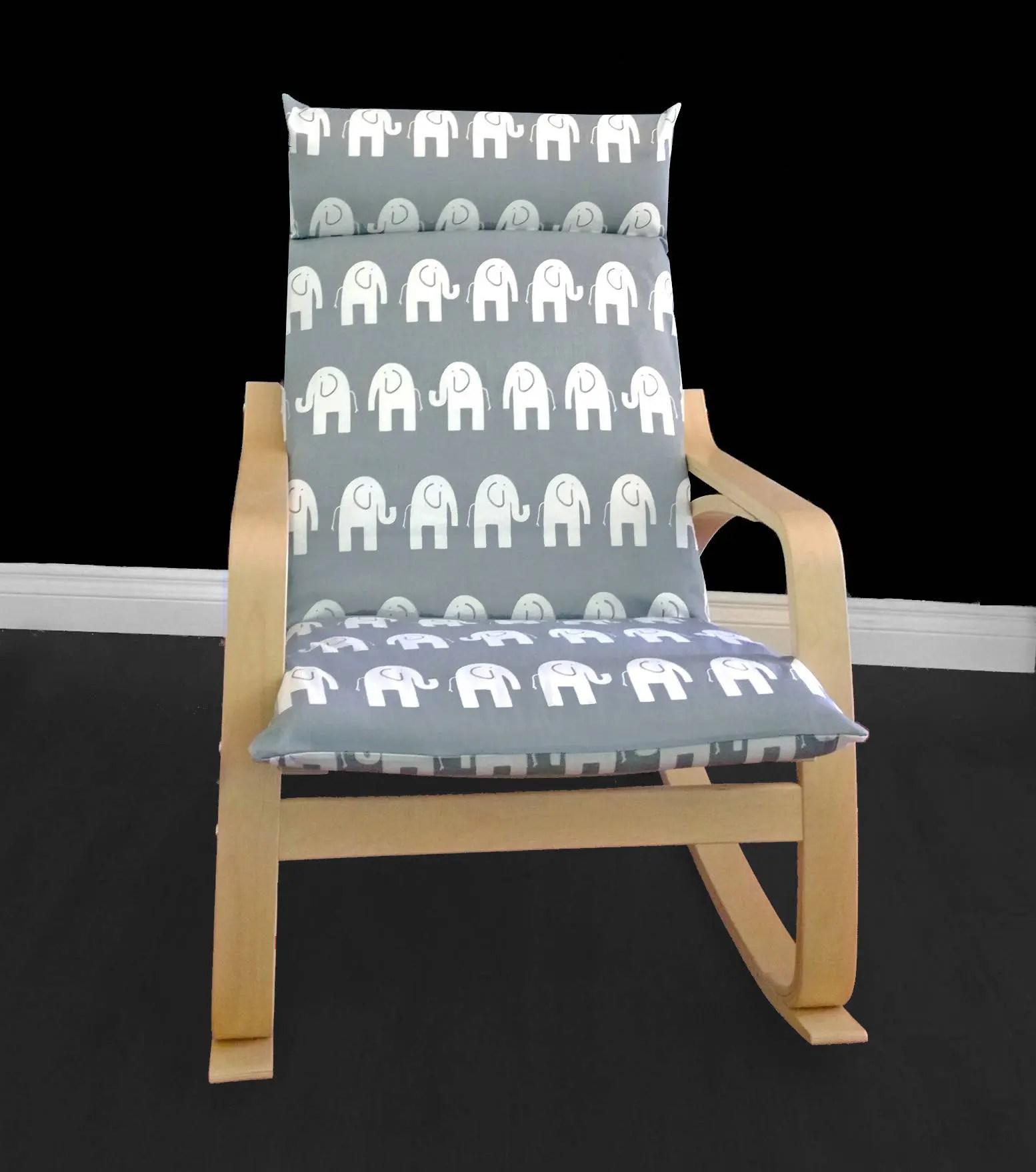 custom chair covers ikea medicine ball benefits white elephant poÄng cushion slipcover