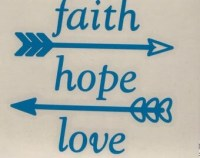 Faith Hope Love Vinyl Decal Sticker