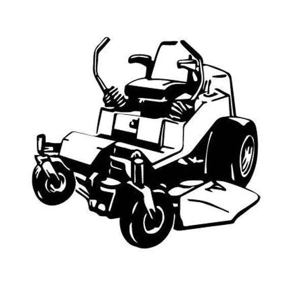 Zero Turn MOWER Lawn mower outline SVG Digital Download