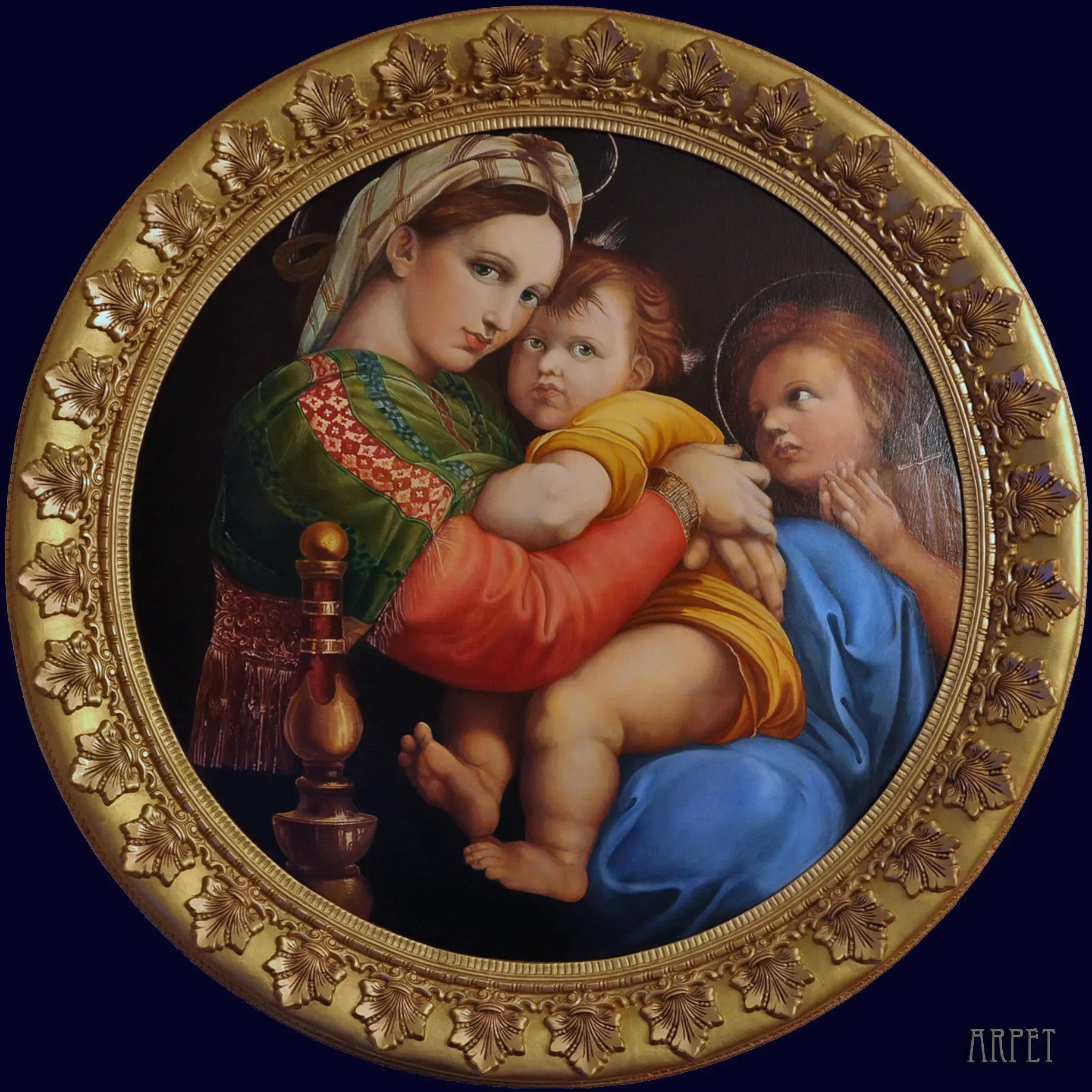 madonna of the chair personalized fishing reproduction by raphael oil on
