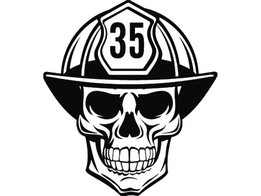 Firefighter Skull 1 Firefighting Helmet Fireman Fighting Fire