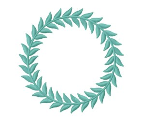 leaf border monogram embroidery designs