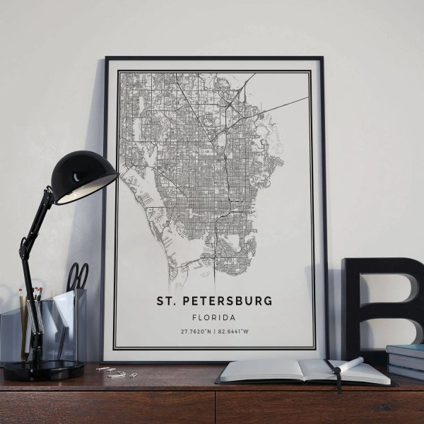 St petersburg map Etsy