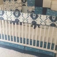 Baby Boy Crib Bedding Crib Sets Navy Blue Denim Blue