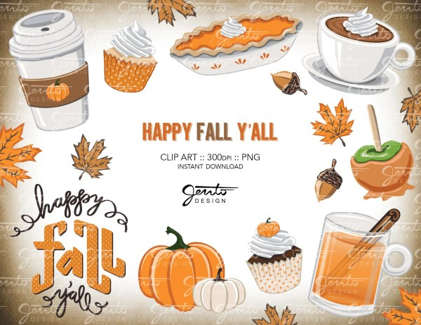 happy fall ' clip art
