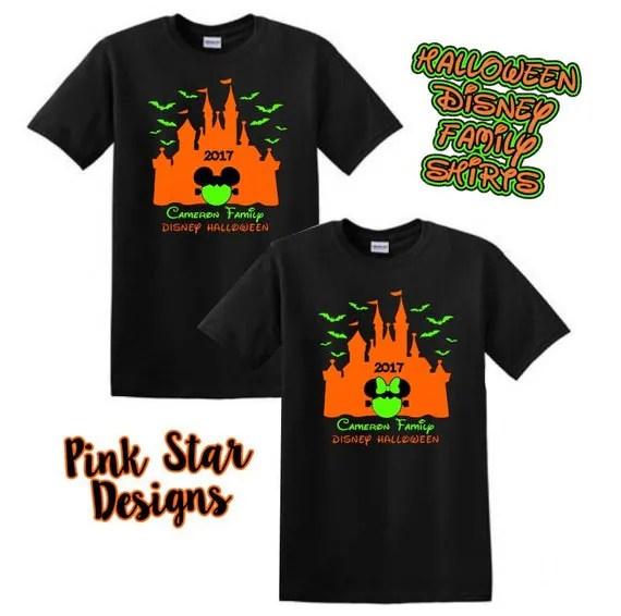 Items similar to Halloween Disney Family Shirts. Disney Halloween Shirts. Disney Halloween Shirt Personalized. Disney family Shirts. Fast Shipping ...