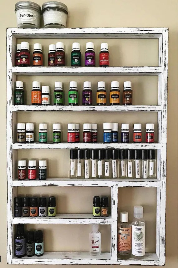 Essential oil shelf unique gift gift for her oil storage