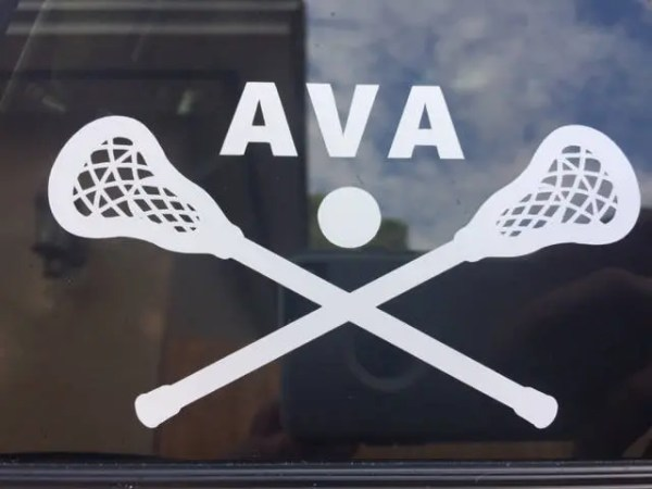 Custom Lacrosse Decal Personalized w Team Name or Player