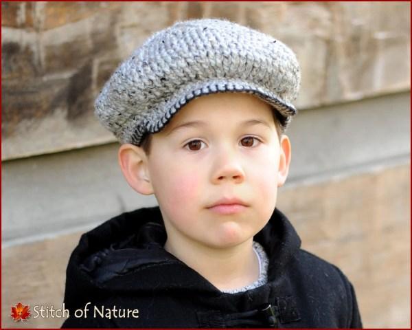Crochet Pattern Byron Scally Cap Hat 1920s