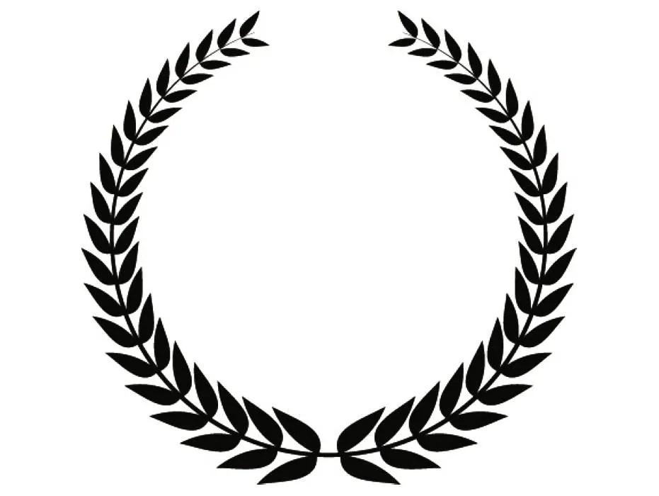 Wreath 7 Olive Branch Leaves Logo Design Element Emblem Label