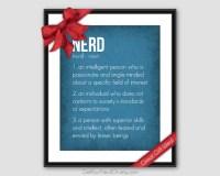 Nerd Definition Funny Art Print Nerdy Office Decor Nerd