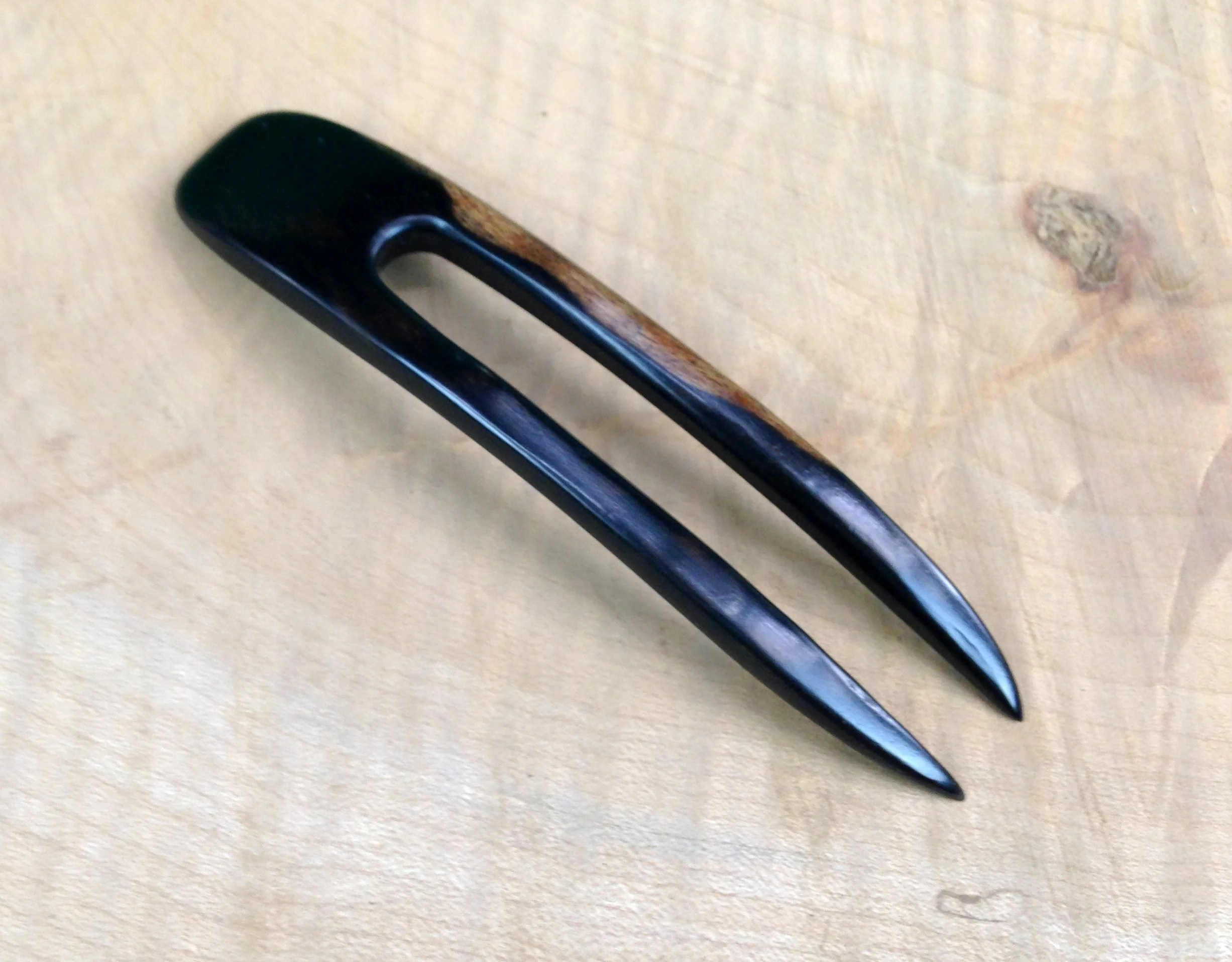 4 prong cane big tex 22gn trailer wiring diagram ebony 5 inch two wooden curved hair fork fpl 3