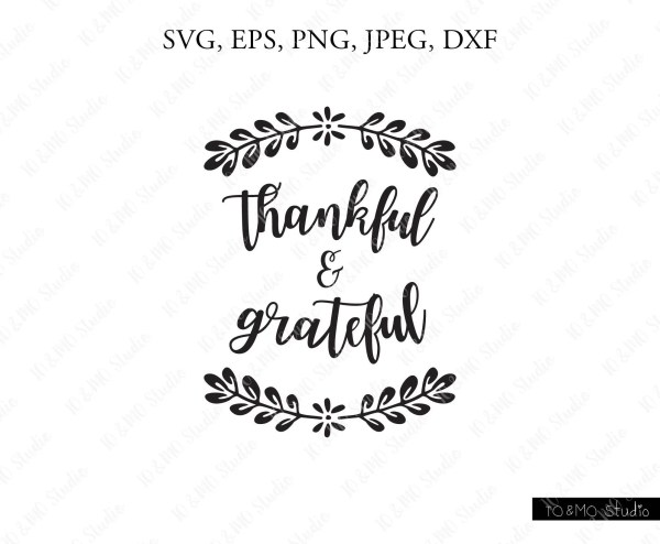thankful grateful blessed svg fall