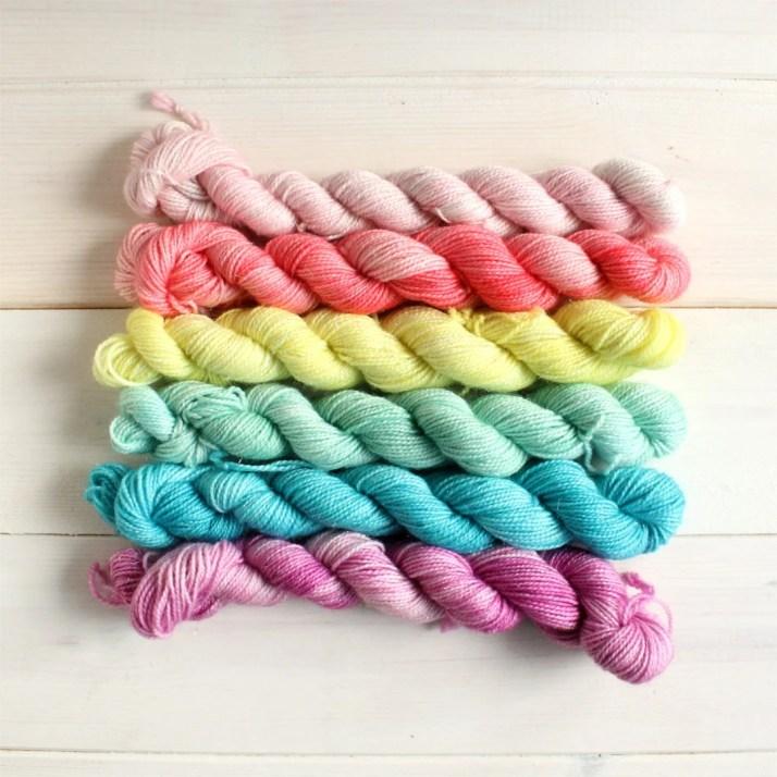Mini skein set - hand dye...