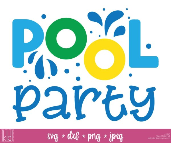 Pool Party Svg File Swimming Summer