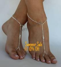 Bead Foot Jewelry Sandal Anklet Set Crystal Wedding