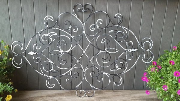 Fleur De Lis Wrought Iron Wall Decor