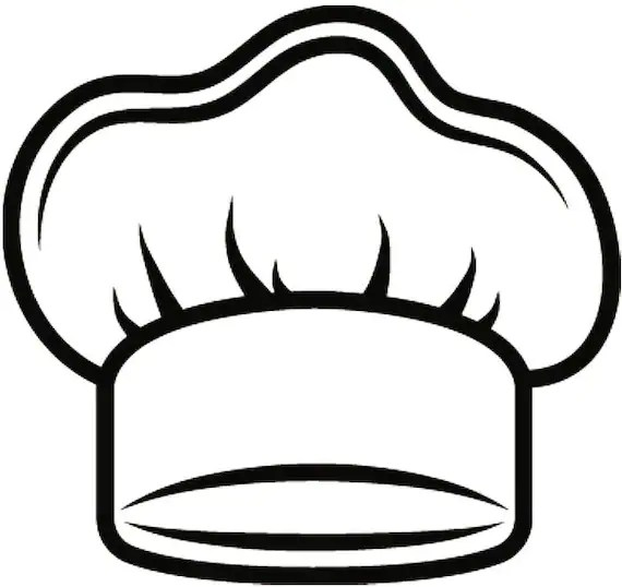 Chef Hat #3 Baker Baking Bakery BBQ Pastry Bread Kitchen