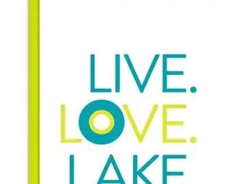 Download Live love lake | Etsy