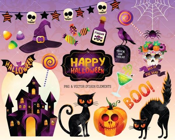 Halloween clipart Etsy